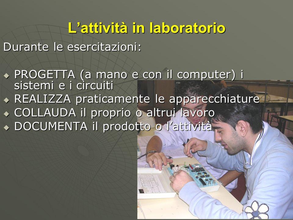 L'attività in laboratorio
