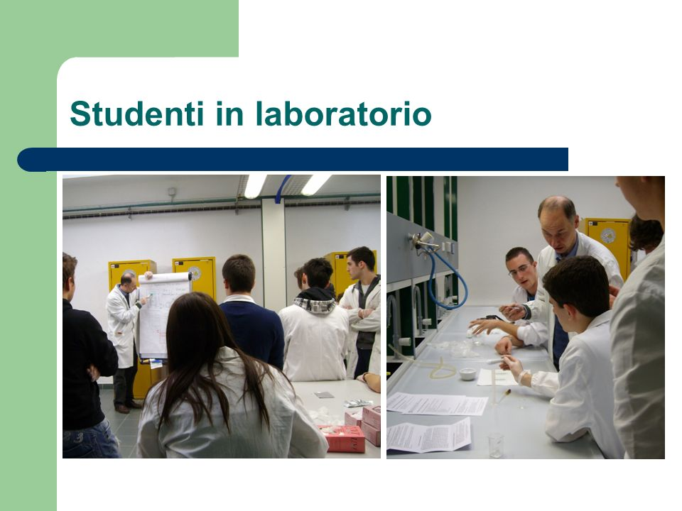 Studenti in laboratorio