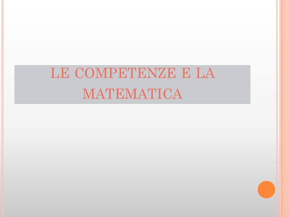 le competenze e la matematica