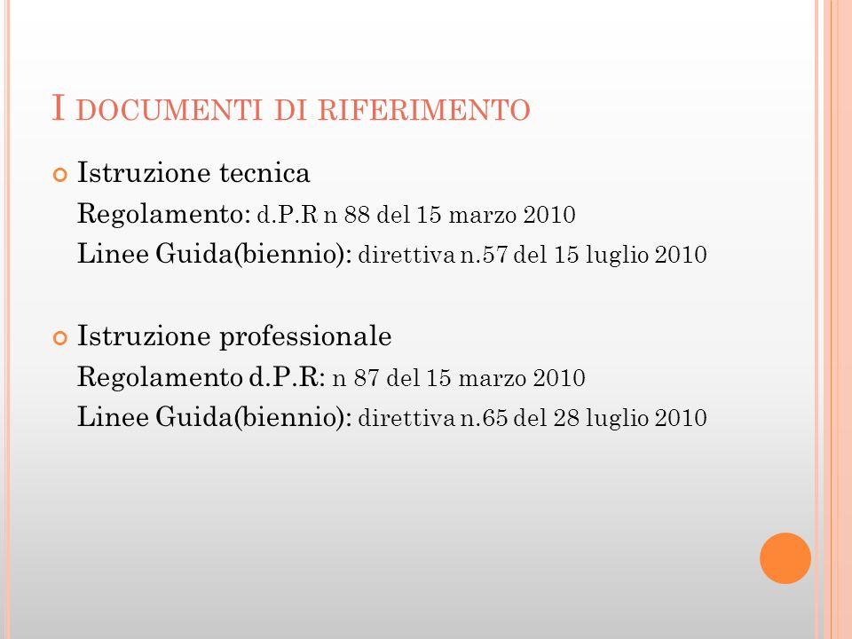 I documenti di riferimento