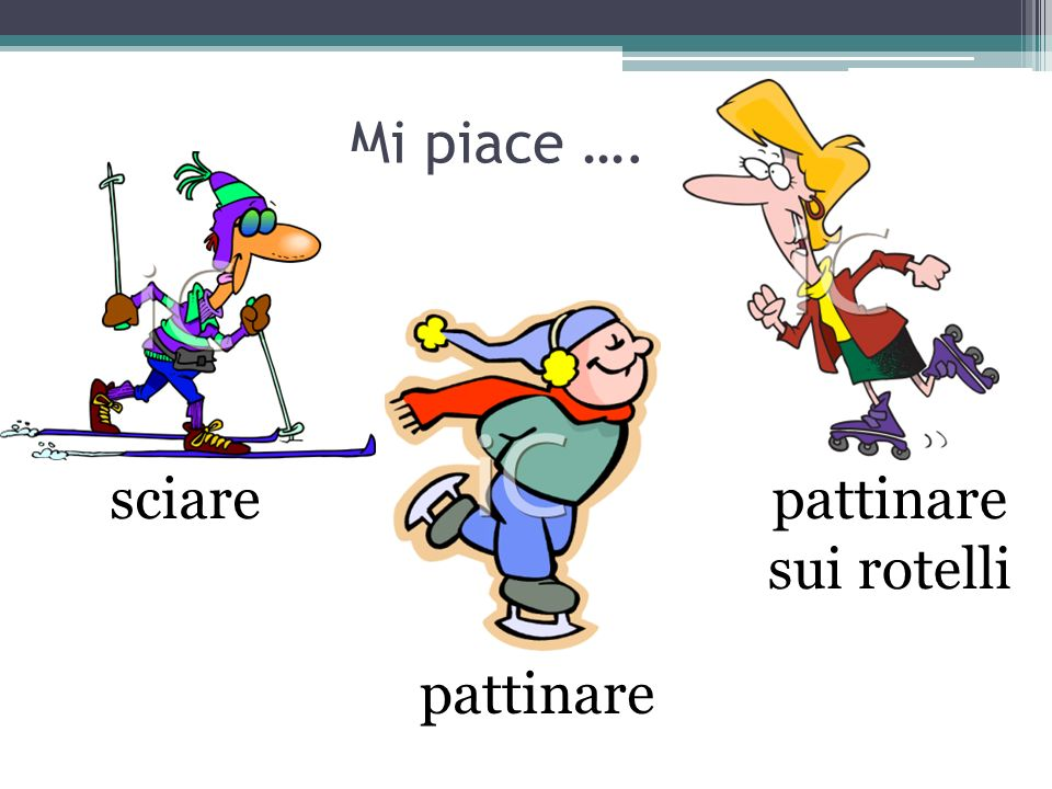Mi piace …. sciare pattinare sui rotelli pattinare