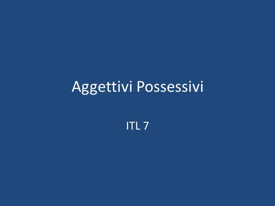 Aggettivi Possessivi ITL 7