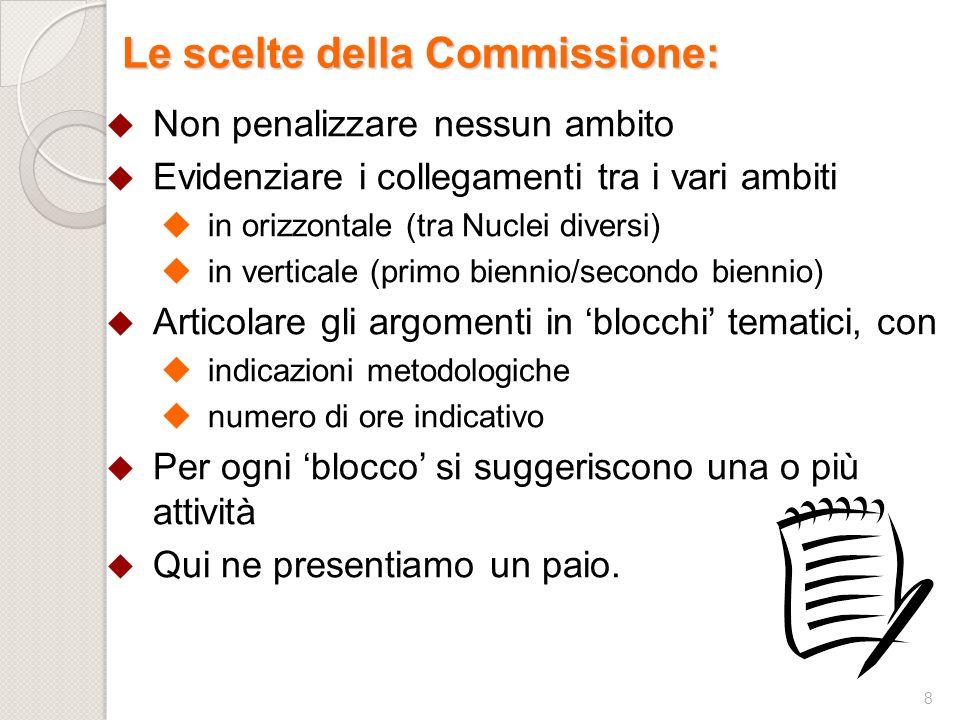 Le scelte della Commissione: