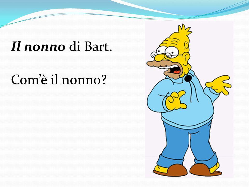 Il nonno di Bart. Com'è il nonno