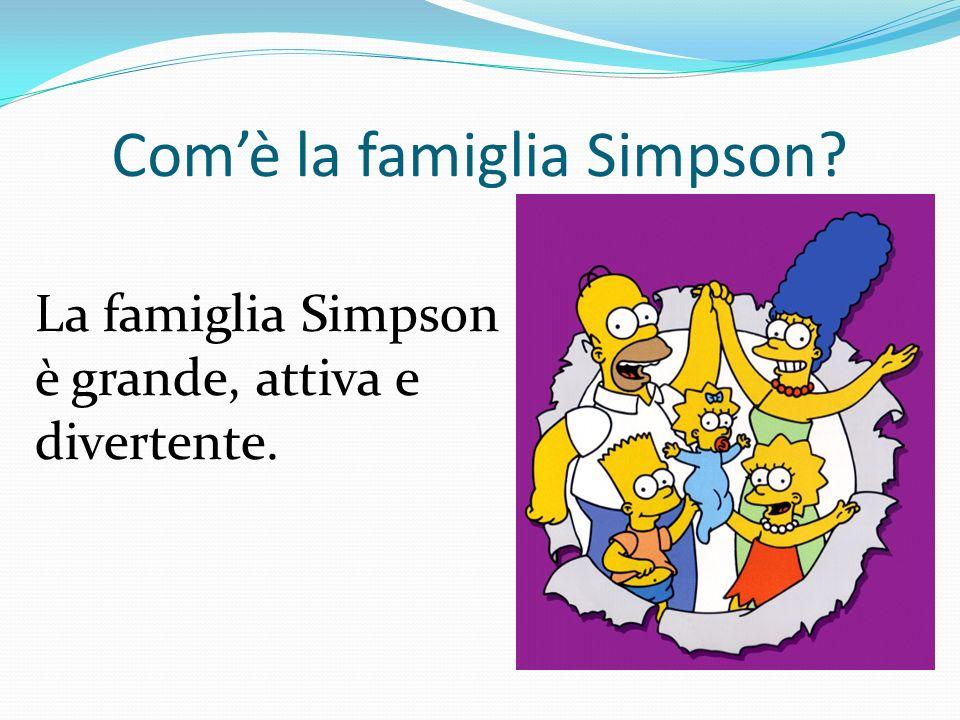 Com'è la famiglia Simpson