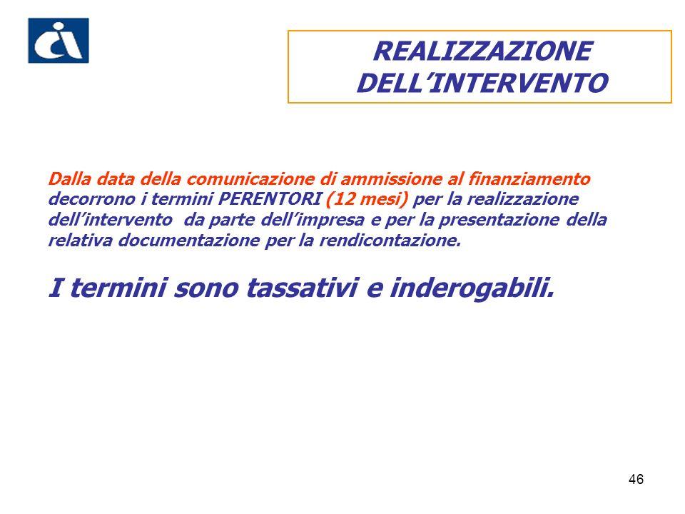REALIZZAZIONE DELL'INTERVENTO