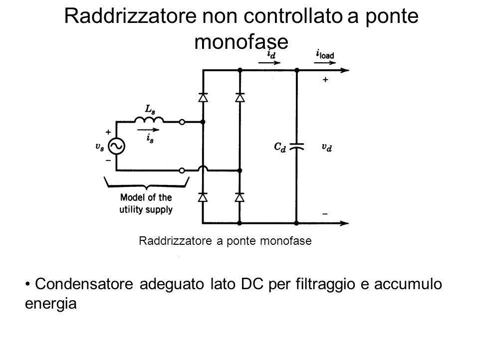 Raddrizzatore non controllato a ponte monofase