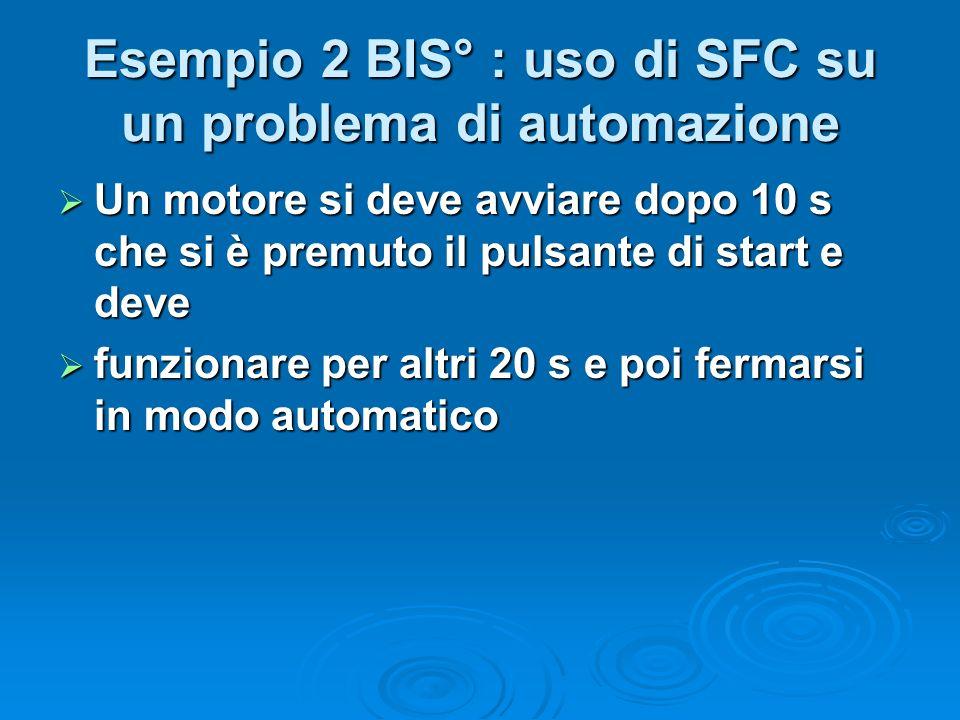 Esempio 2 BIS° : uso di SFC su un problema di automazione