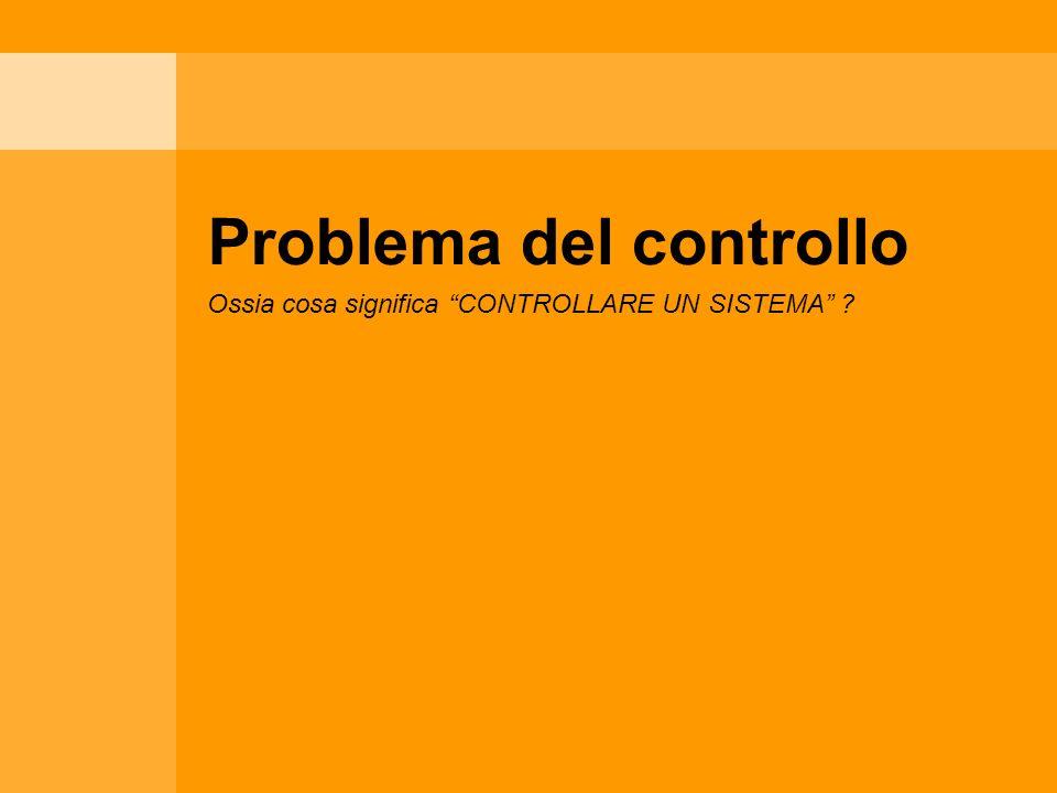 Problema del controllo