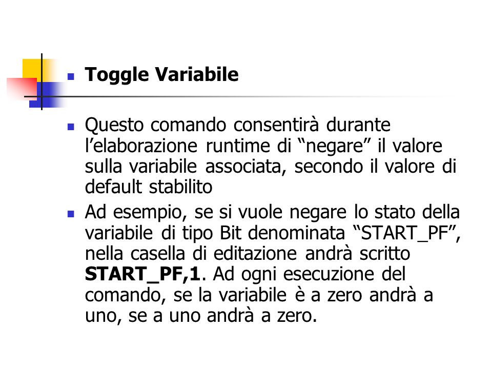 Toggle Variabile