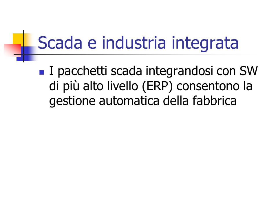 Scada e industria integrata