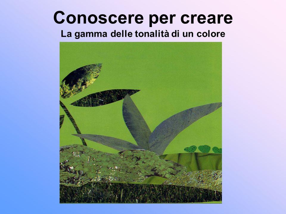 Conoscere per creare La gamma delle tonalità di un colore