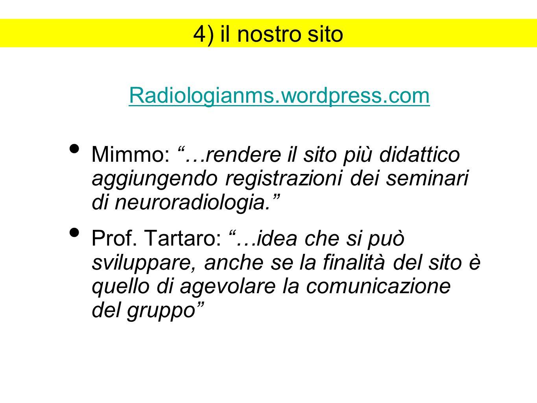 4) il nostro sito Radiologianms.wordpress.com