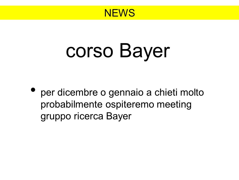 NEWS corso Bayer.