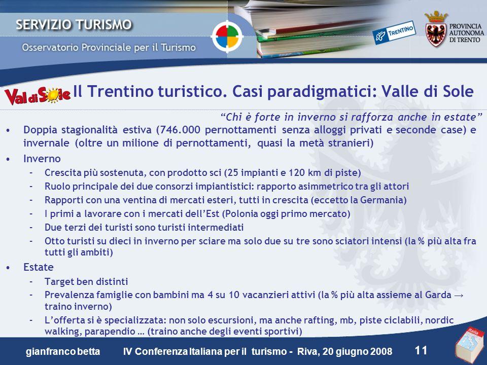 Il Trentino turistico. Casi paradigmatici: Valle di Sole