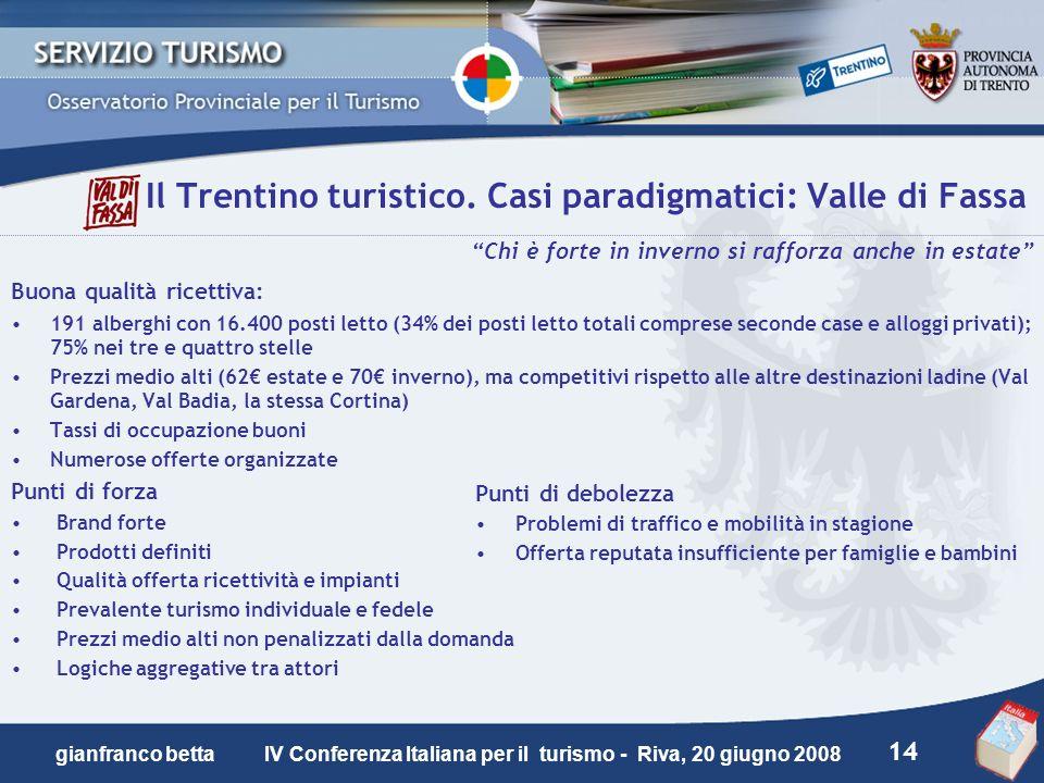 Il Trentino turistico. Casi paradigmatici: Valle di Fassa