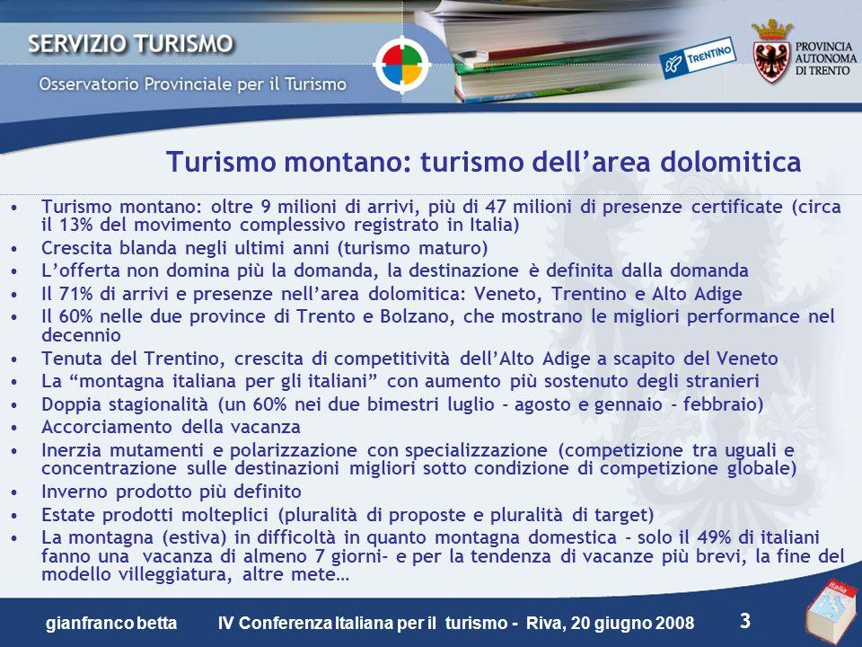 Turismo montano: turismo dell'area dolomitica