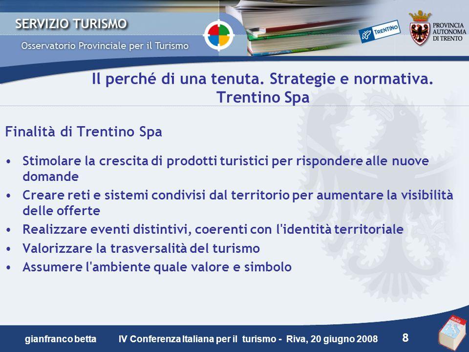 Il perché di una tenuta. Strategie e normativa. Trentino Spa