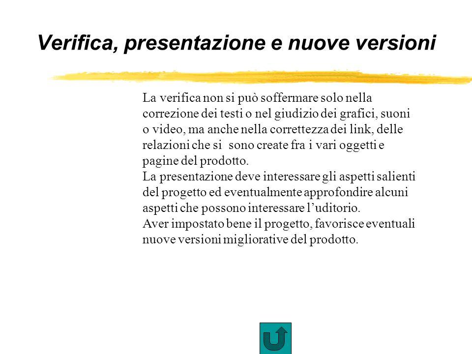 Verifica, presentazione e nuove versioni