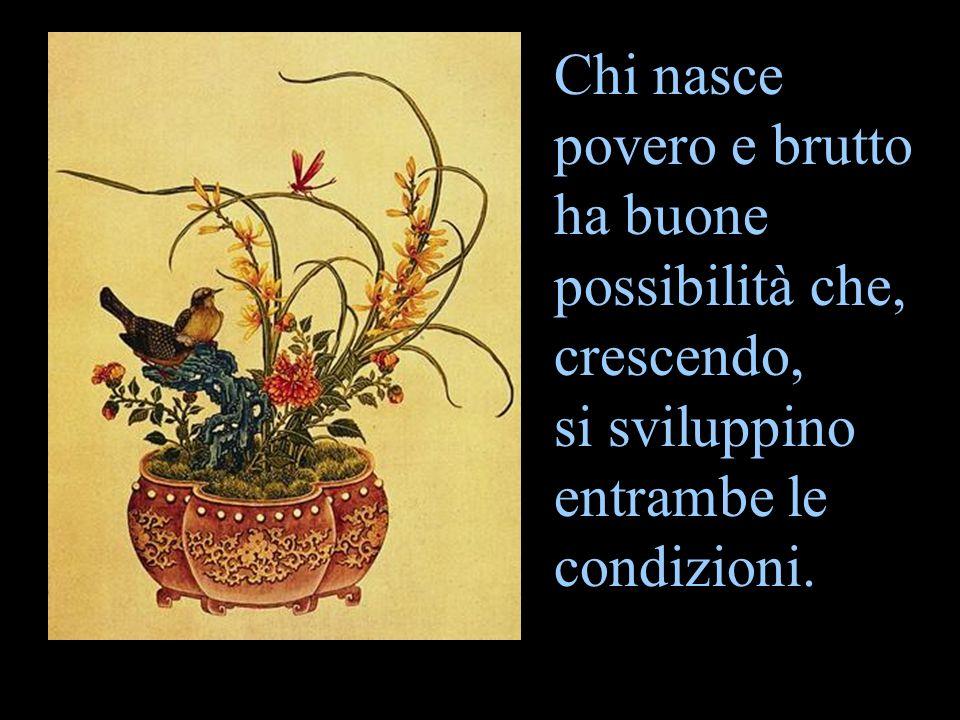 Chi nasce povero e brutto ha buone possibilità che, crescendo, si sviluppino entrambe le condizioni.