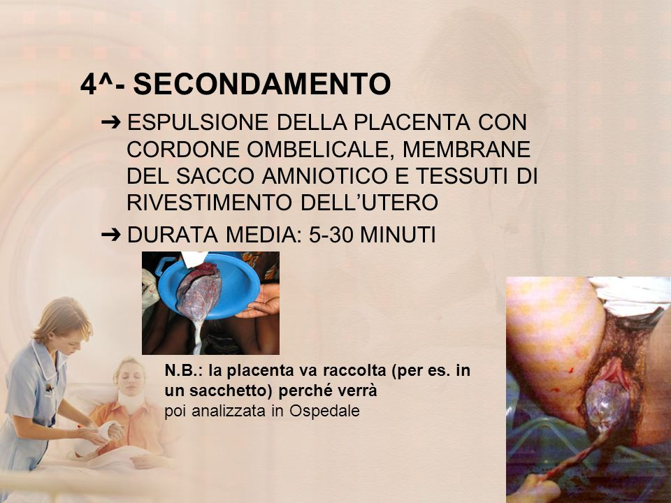 4^- SECONDAMENTO