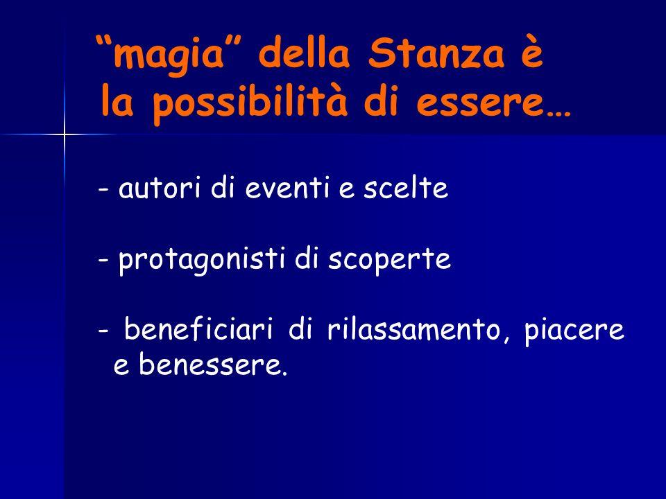 magia della Stanza è la possibilità di essere…