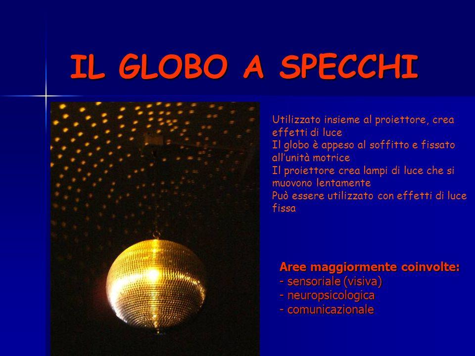 IL GLOBO A SPECCHI Aree maggiormente coinvolte: - sensoriale (visiva)