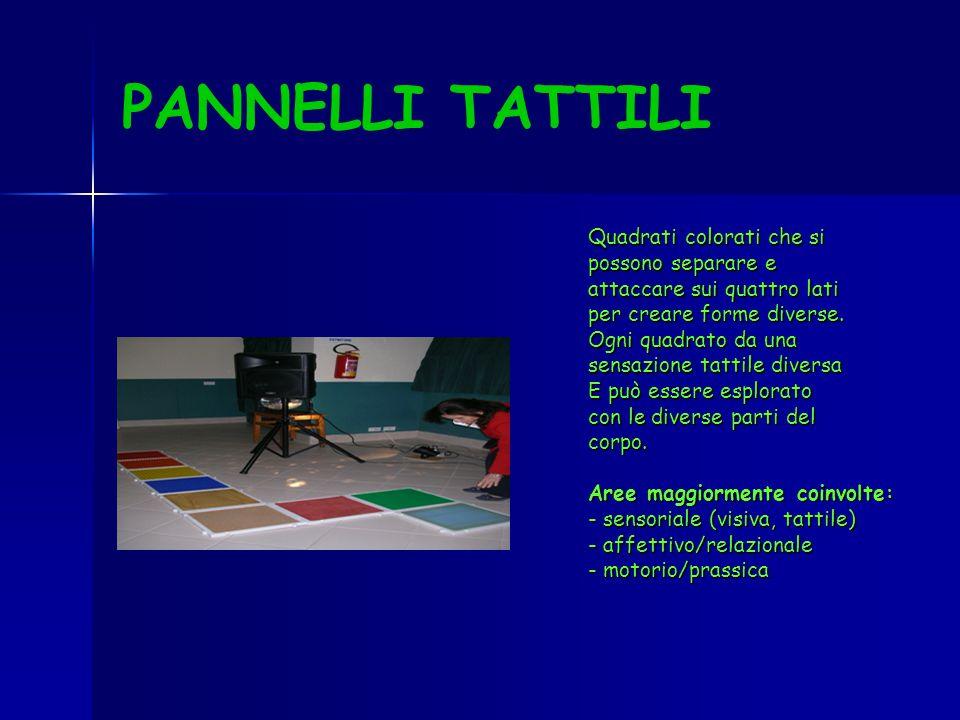 PANNELLI TATTILI Quadrati colorati che si possono separare e