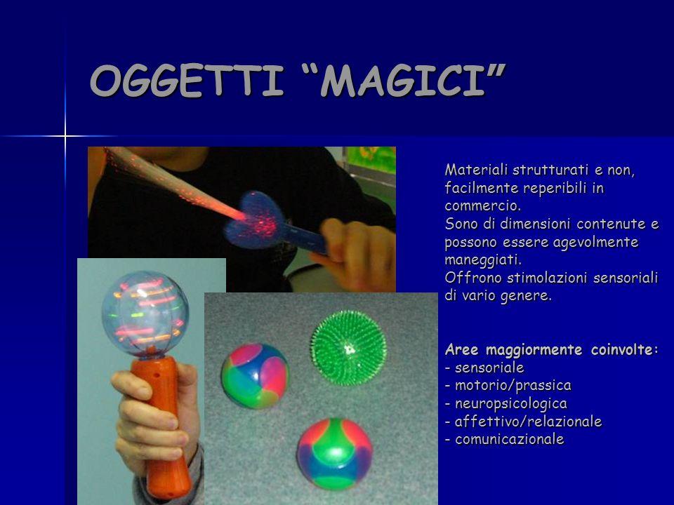 OGGETTI MAGICI Materiali strutturati e non, facilmente reperibili in commercio.