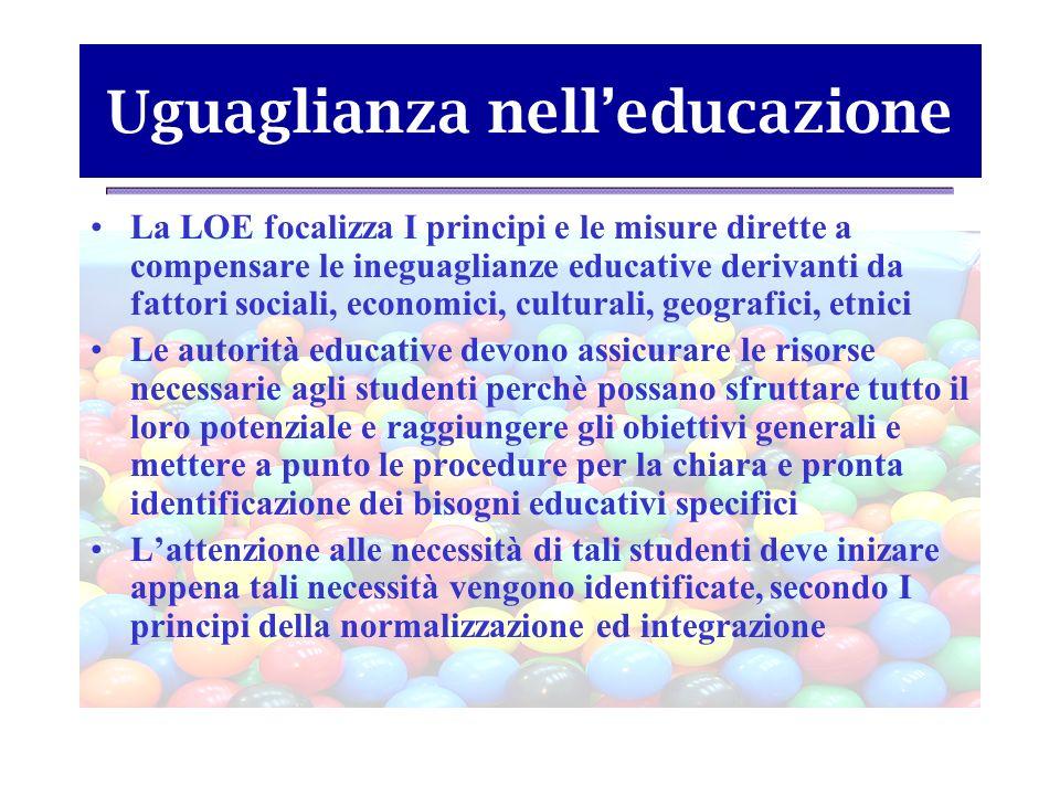 Uguaglianza nell'educazione