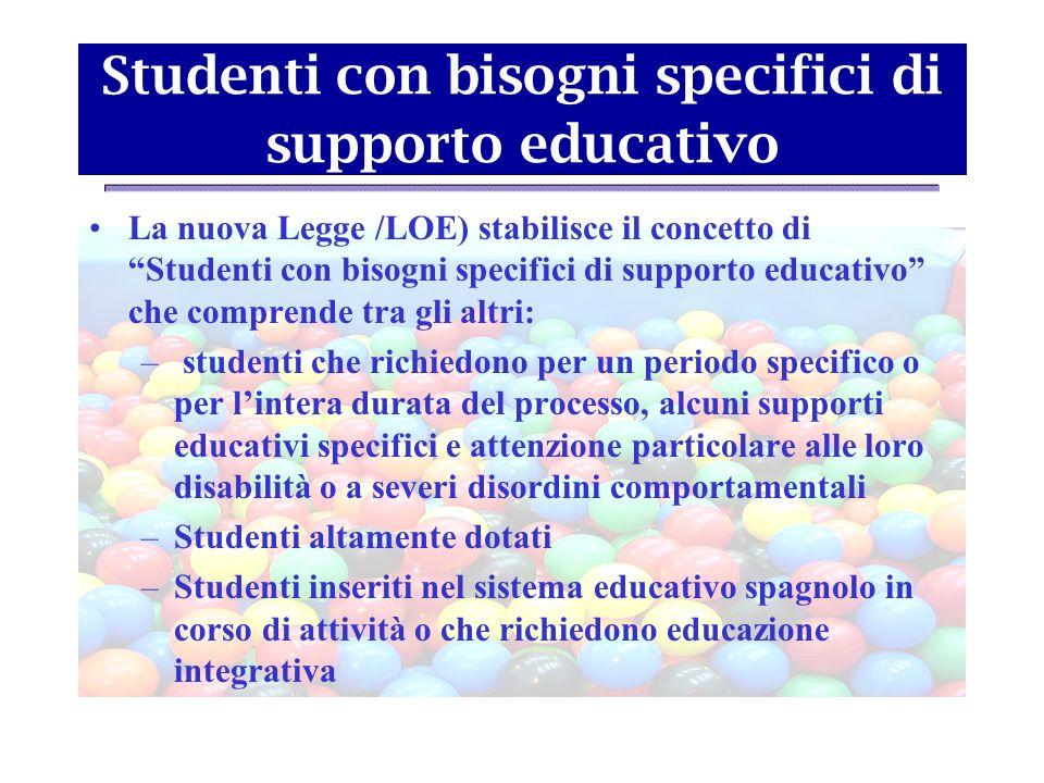 Studenti con bisogni specifici di supporto educativo