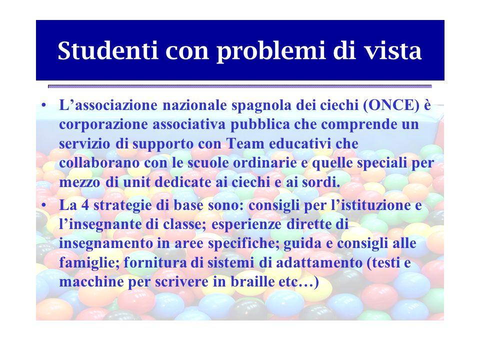 Studenti con problemi di vista