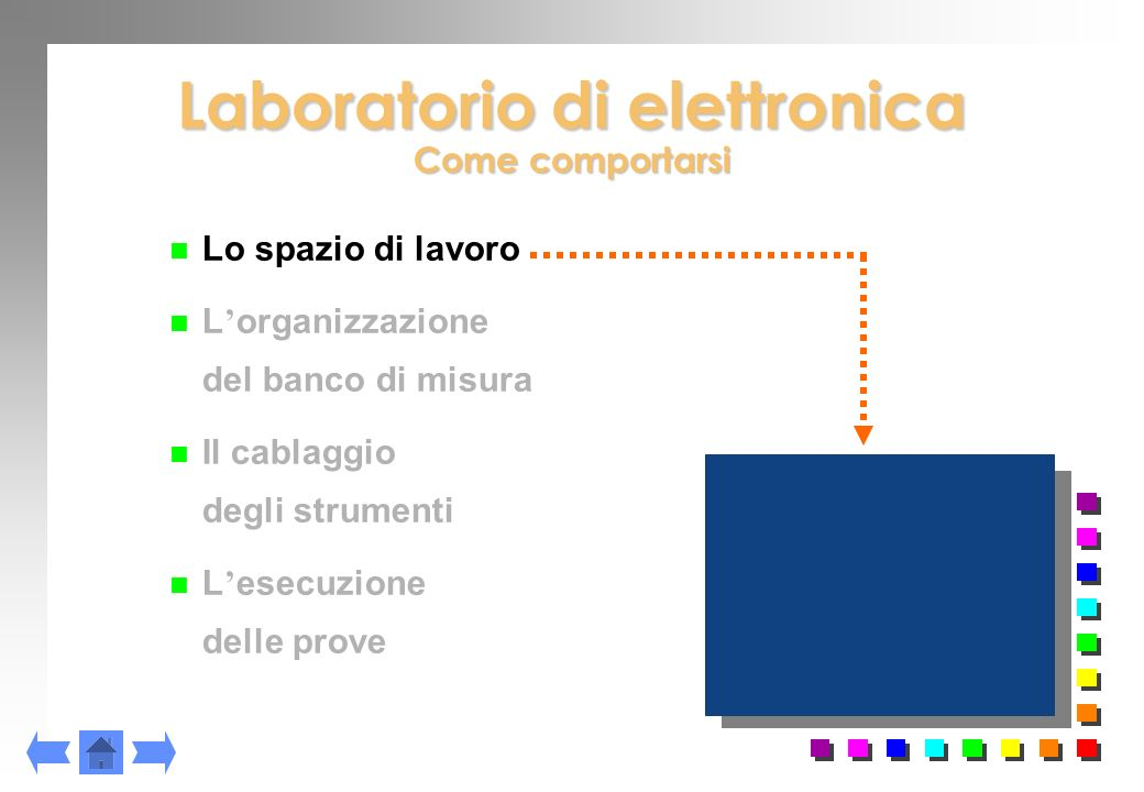 Laboratorio di elettronica Come comportarsi
