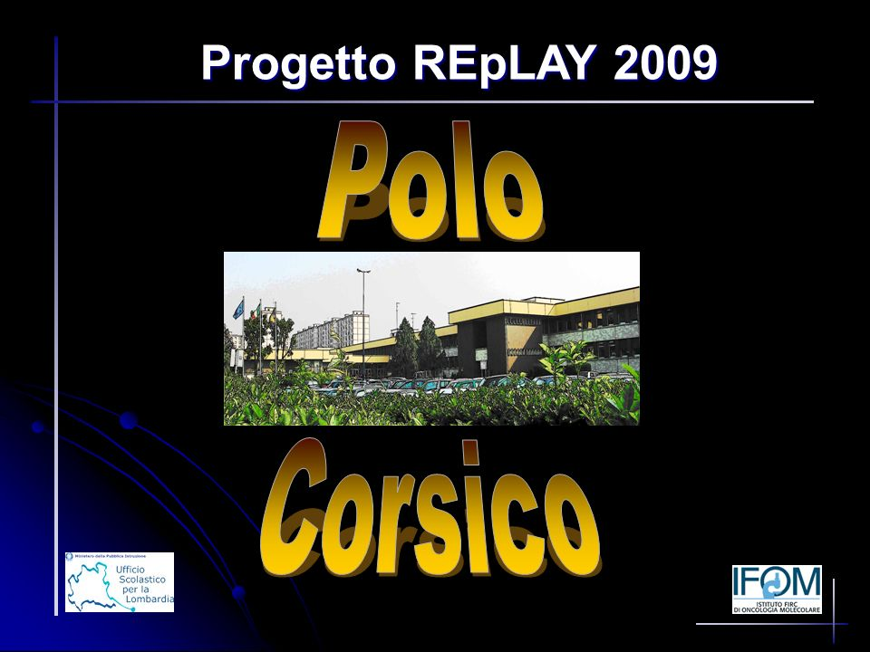 Progetto REpLAY 2009 Polo Corsico