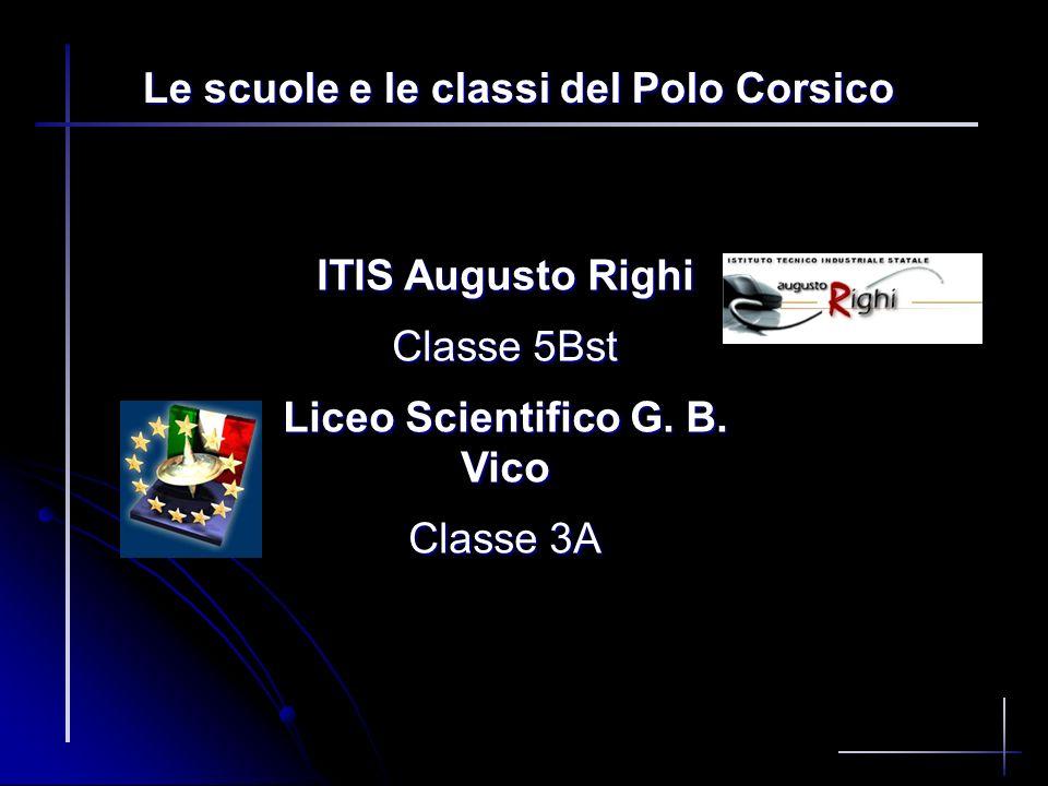 Le scuole e le classi del Polo Corsico Liceo Scientifico G. B. Vico