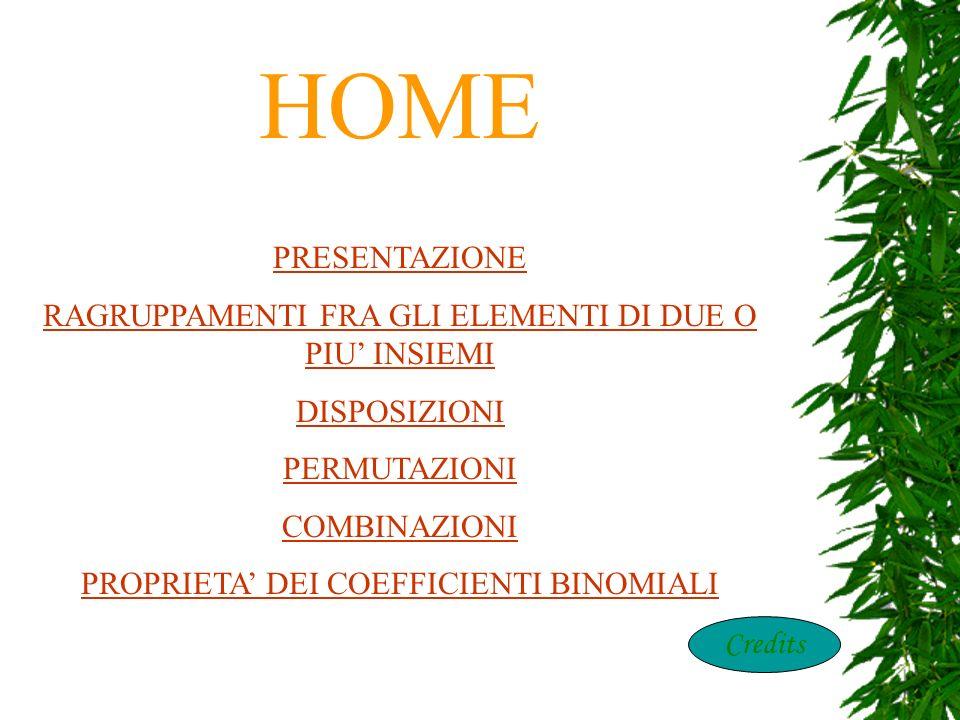 HOME home PRESENTAZIONE