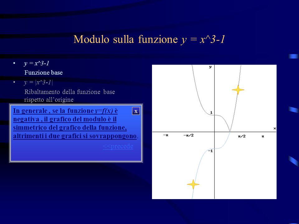 Modulo sulla funzione y = x^3-1