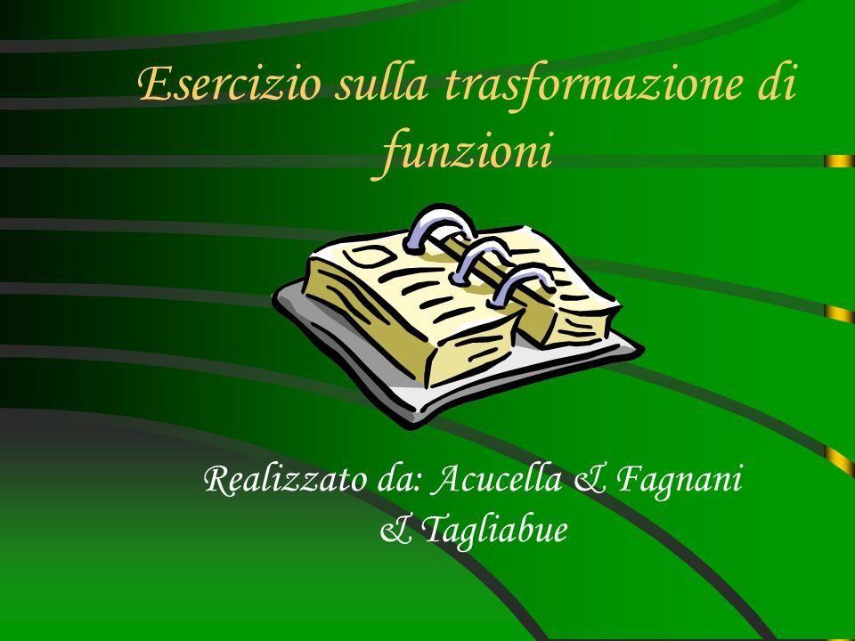 Esercizio sulla trasformazione di funzioni