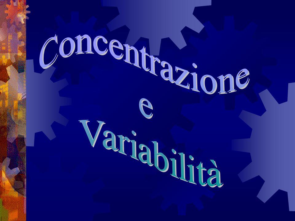 Concentrazione e Variabilità