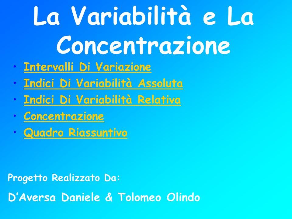 La Variabilità e La Concentrazione