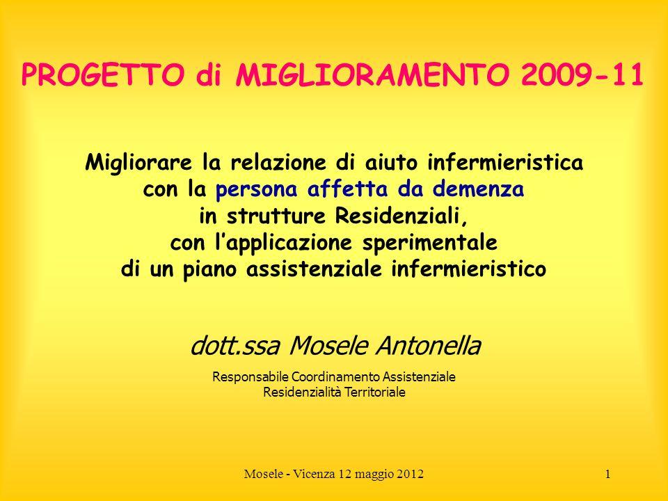 PROGETTO di MIGLIORAMENTO 2009-11