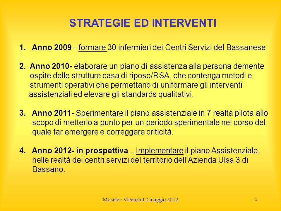 STRATEGIE ED INTERVENTI