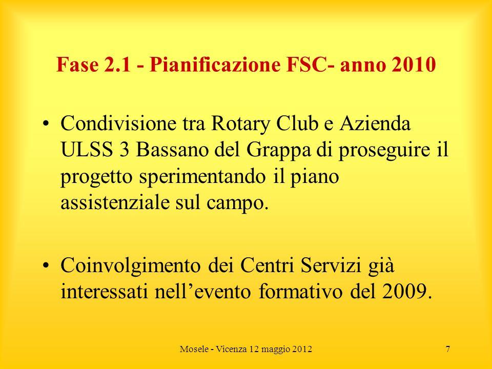 Fase 2.1 - Pianificazione FSC- anno 2010