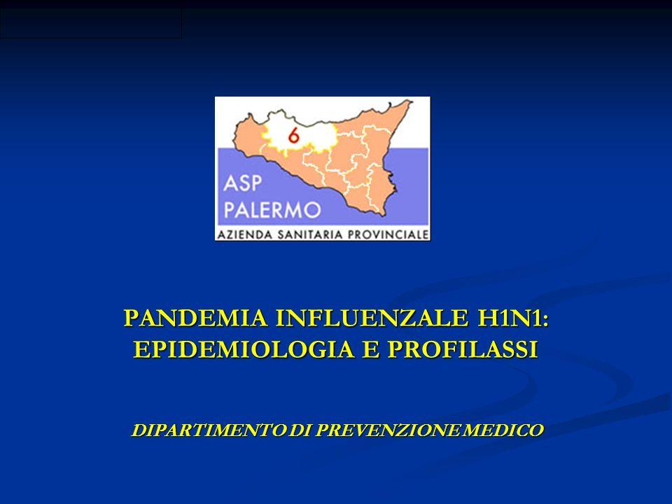 PANDEMIA INFLUENZALE H1N1: EPIDEMIOLOGIA E PROFILASSI