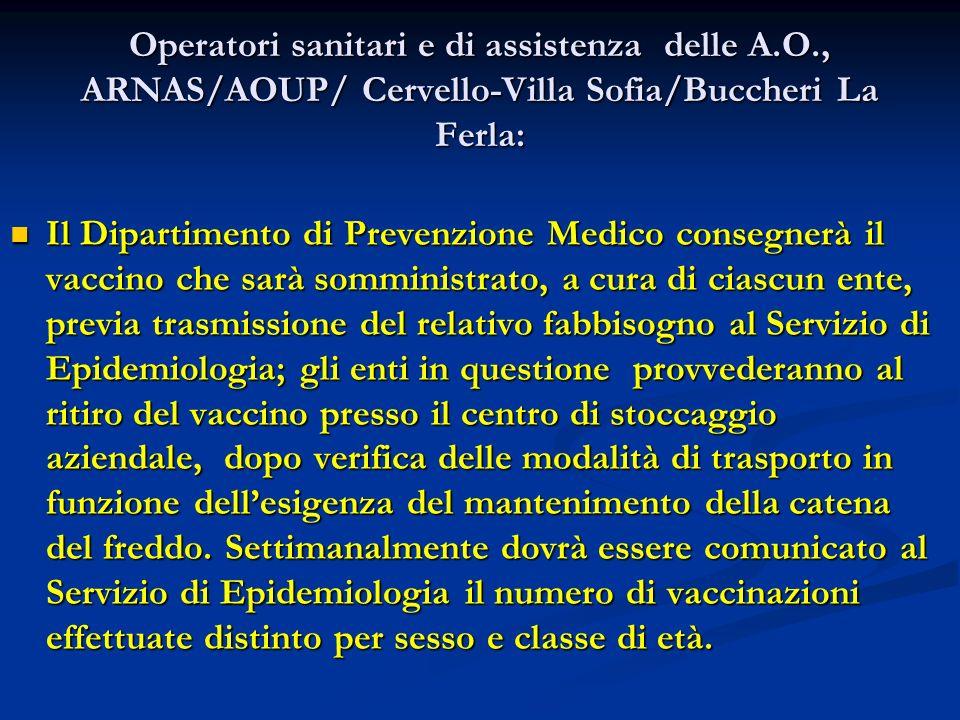 Operatori sanitari e di assistenza delle A. O