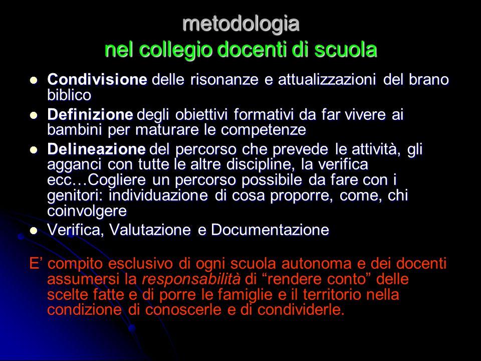 metodologia nel collegio docenti di scuola