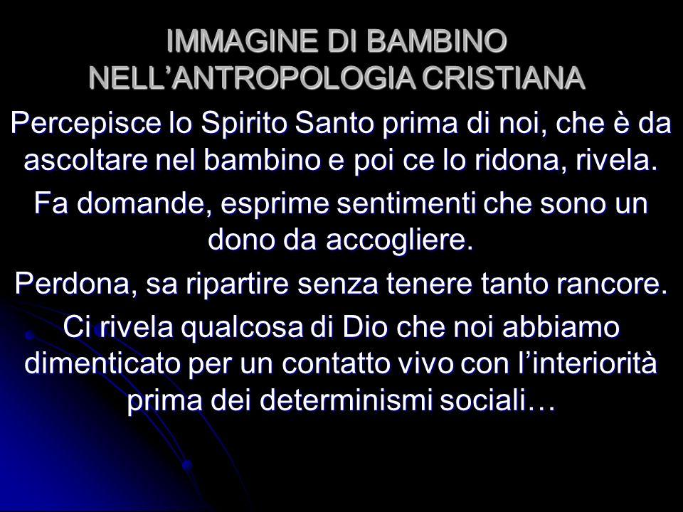 IMMAGINE DI BAMBINO NELL'ANTROPOLOGIA CRISTIANA
