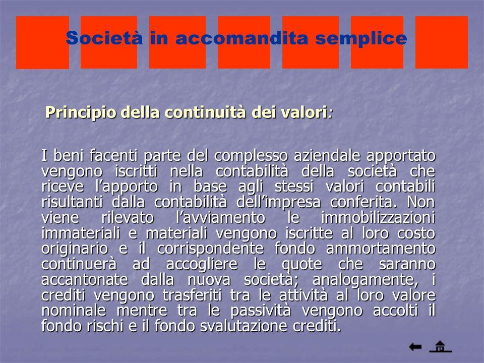 Principio della continuità dei valori: