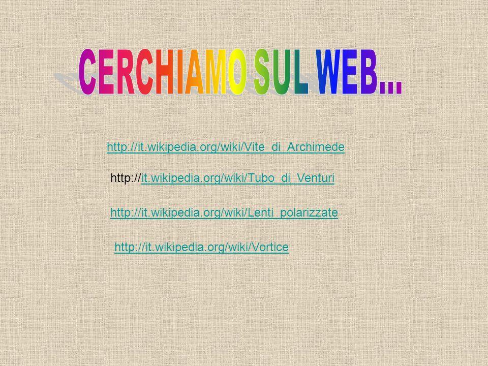 CERCHIAMO SUL WEB... http://it.wikipedia.org/wiki/Vite_di_Archimede