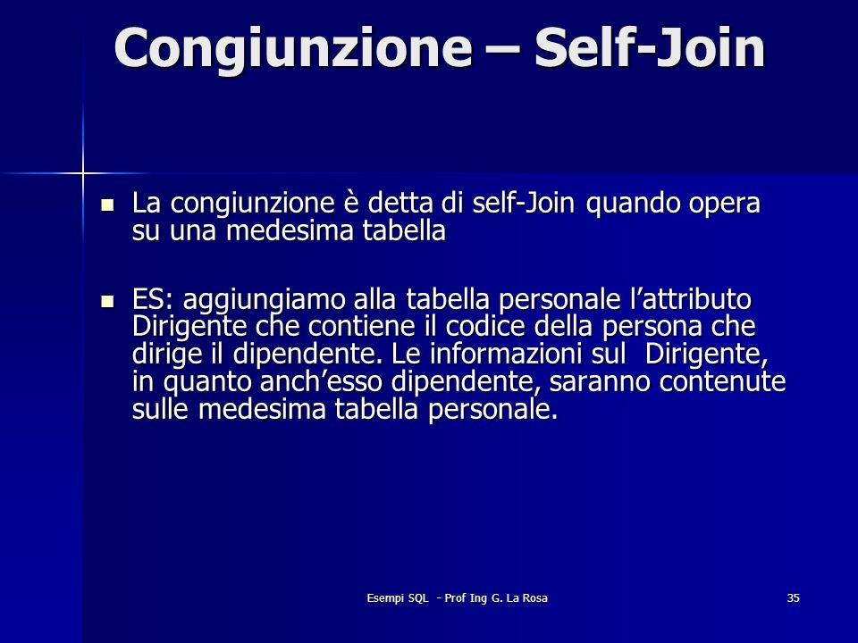 Congiunzione – Self-Join